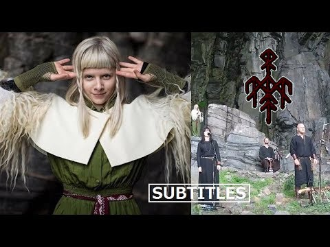 Wardruna feat. AURORA - Helvegen +multi-language Lyrics/Subtitles (live at TraenaFestival2017) HD